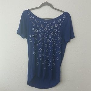 Juicy Couture Medium blouse blue strappy glam